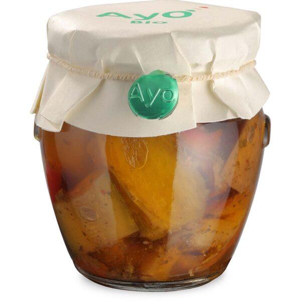 Verdure in olio, verdure sott'olio, verdure, peperoni,melanzane, Zucchine piccanti, zucchine in olio, zucchine sott'olio, zucchine, conserve, artigianali, sarde, biologiche, ayo