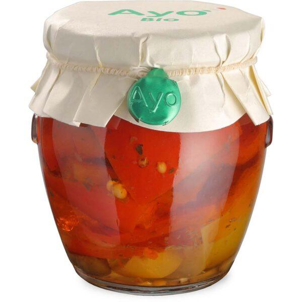 Peperoni sott'olio, peperoni in olio, peperoni, stuzzicanti, conserve, artigianali, sarde, ayo
