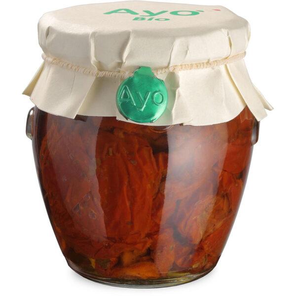 Pomodori secchi in olio, pomodori secchi sott'olio, pomodori secchi, conserve, artigianali, sarde, biologiche, ayo