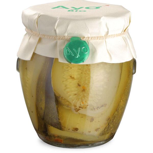 Zucchine piccanti, zucchine in olio, zucchine sott'olio, zucchine, conserve, artigianali, sarde, biologiche, ayo