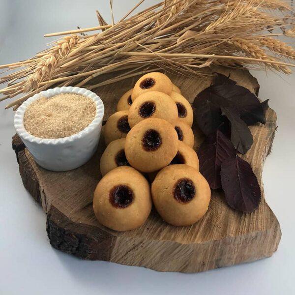 Biscotti Frollini ai lamponi, Frollini, marmellata di lamponi, Cascina Guzzafame, biscotti, biscotti artigianali, azienda agricola, lombardia
