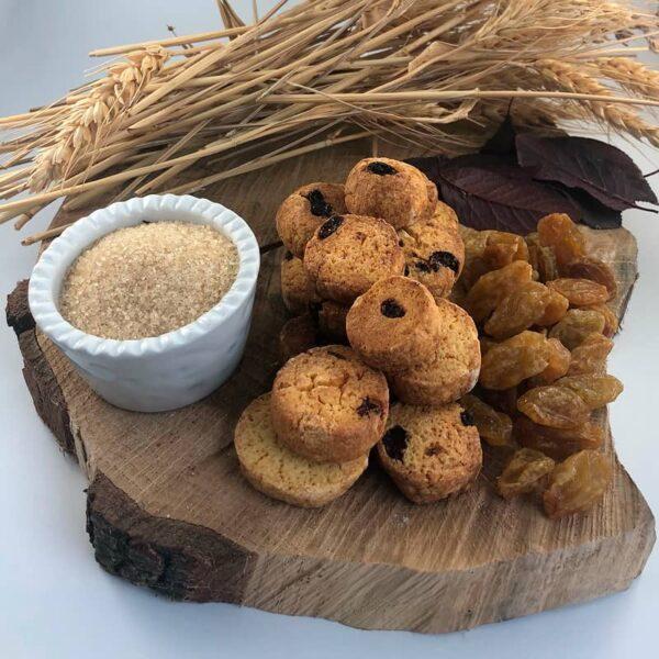 Biscotti mais e uvetta, farina di mais, Cascina Guzzafame, biscotti artigianali, biscotti, azienda agricola, lombardia