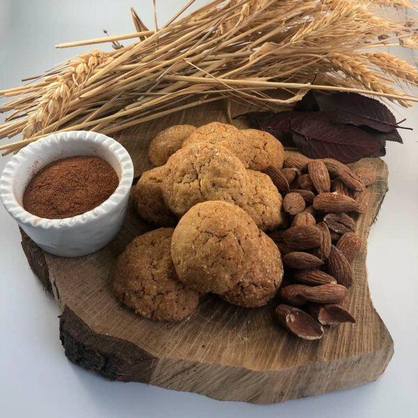 Biscotti mandorle e cannella, mandorle, farina di mandorle, cannella, Cascina Guzzafame, biscotti artigianali, biscotti, azienda agricola, lombardia