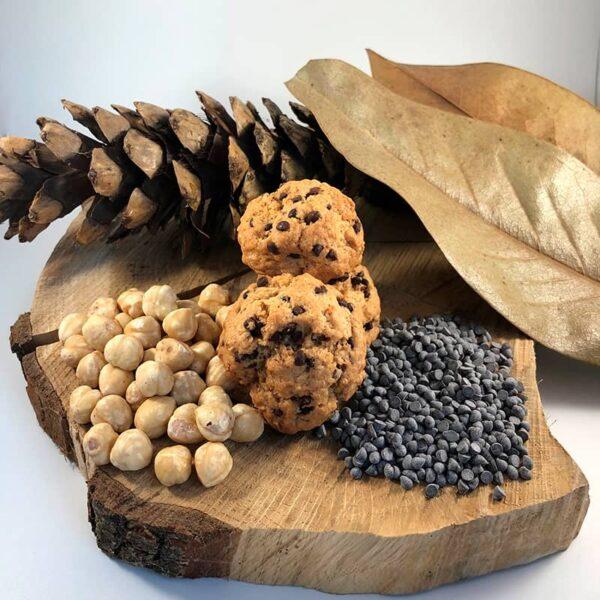 biscotti veganotti nocciole e cioccolato, Cascina Guzzafame, biscotti vegani, biscotti artigianali, biscotti, azienda agricola, lombardia