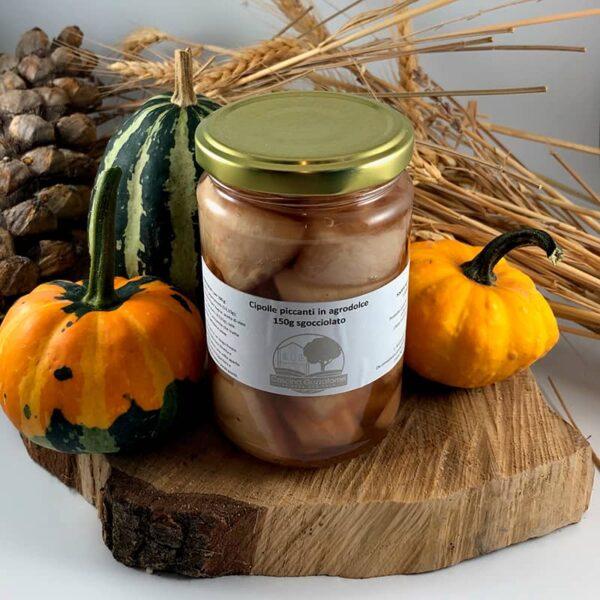 Cipolle piccanti, in agrodolce, conserve italiane, conserva di cipolle, azienda agricola, Cascina Guzzafame, Lombardia