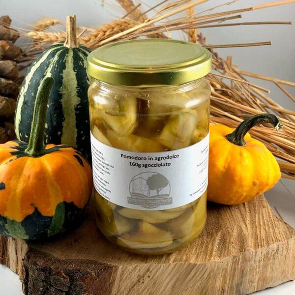 Pomodori in agrodolce, pomodori verdi, conserve italiane, azienda agricola, Cascina Guzzafame, Lombardia